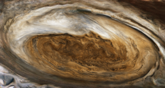 Jupiter's Great Red Spot from Voyager 1 (contemporary mosaic)