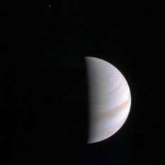 Jupiter and Io from Junocam