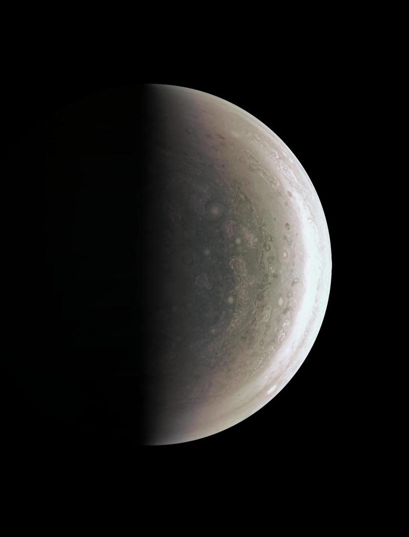 Jupiter's south pole