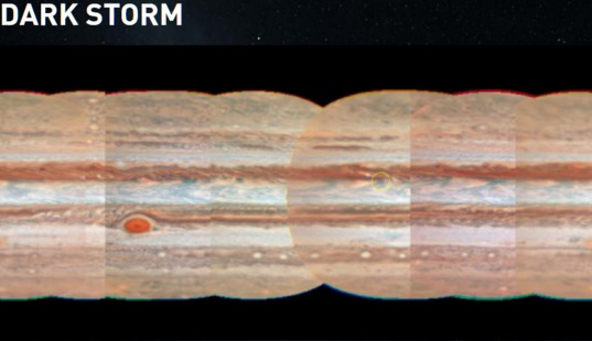 Jupiter's dark storms