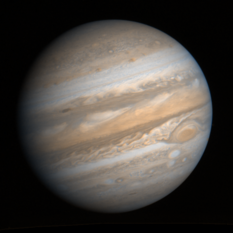 Voyager 1 global mosaic of Jupiter