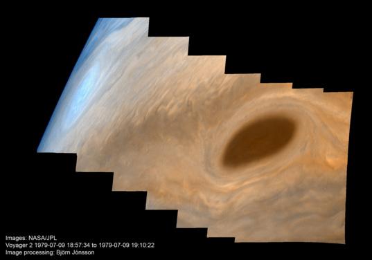 Limb of Jupiter from Voyager 2