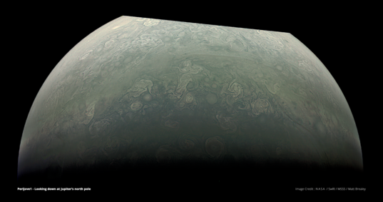Jupiter's north pole from Juno