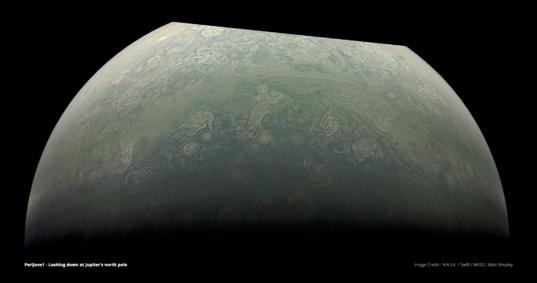 Jupiter's north pole from Juno
