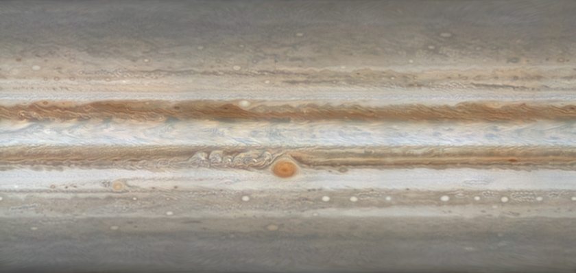 Map of Jupiter, March 2016