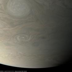 Jupiter in approximate true color during Juno perijove 4
