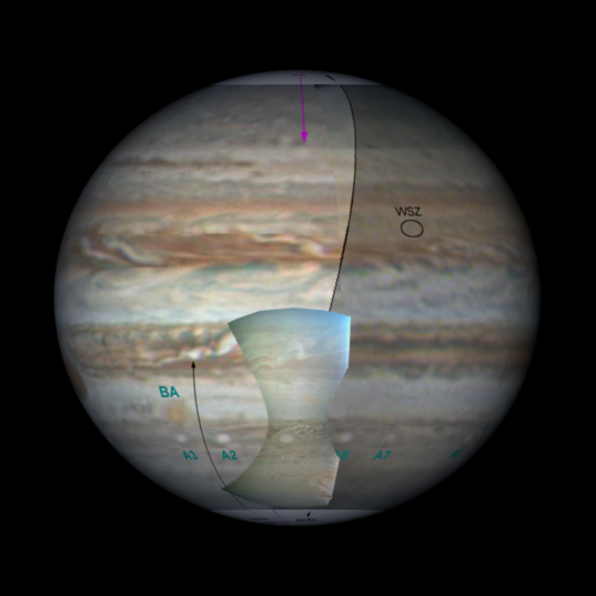 Context view for these Juno images
