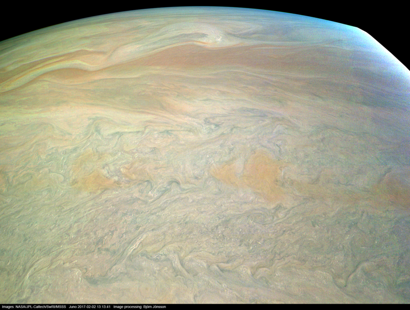Jupiter from Juno at Perijove #4