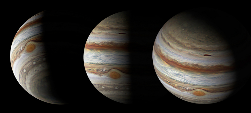 Simulation of Juno's flyby over Jupiter's north pole