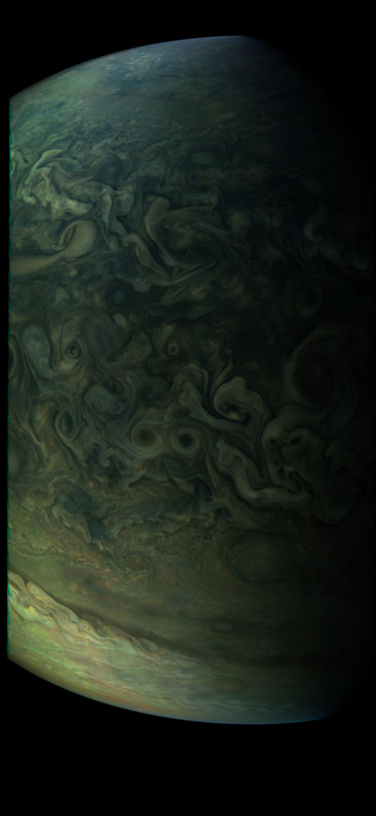 Southern edge of Jupiter's northern FFRs