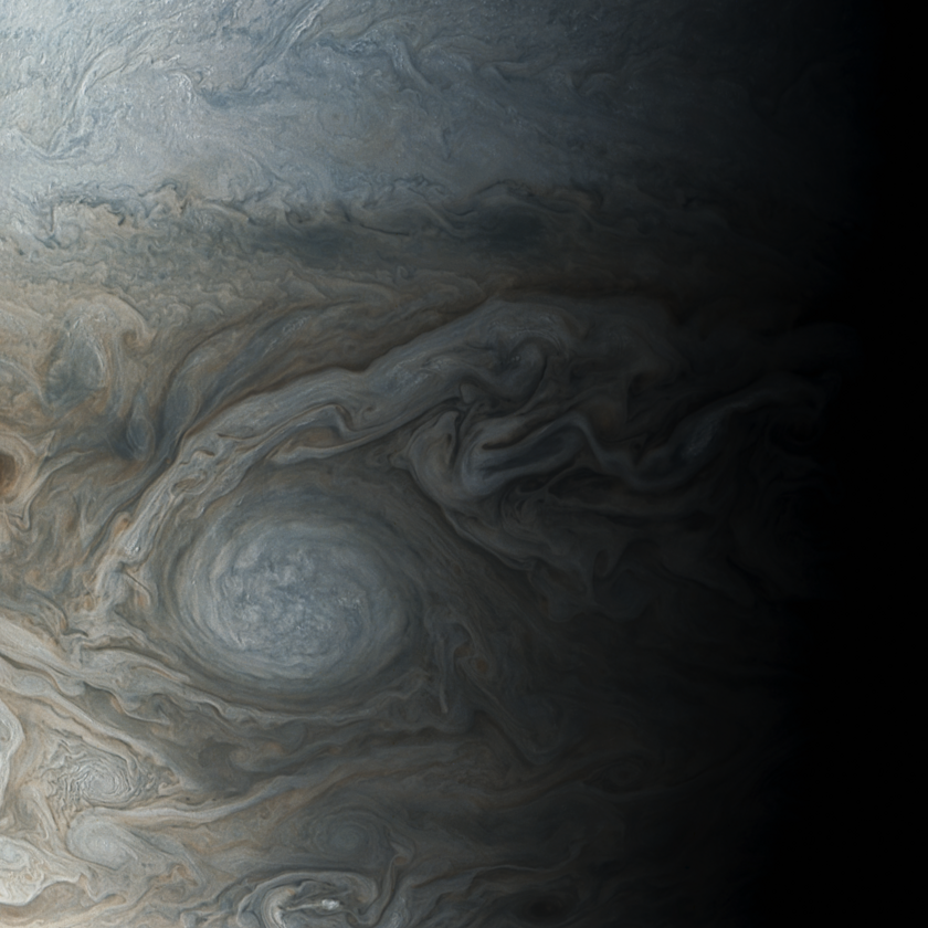 Storms on Jupiter imaged by Juno