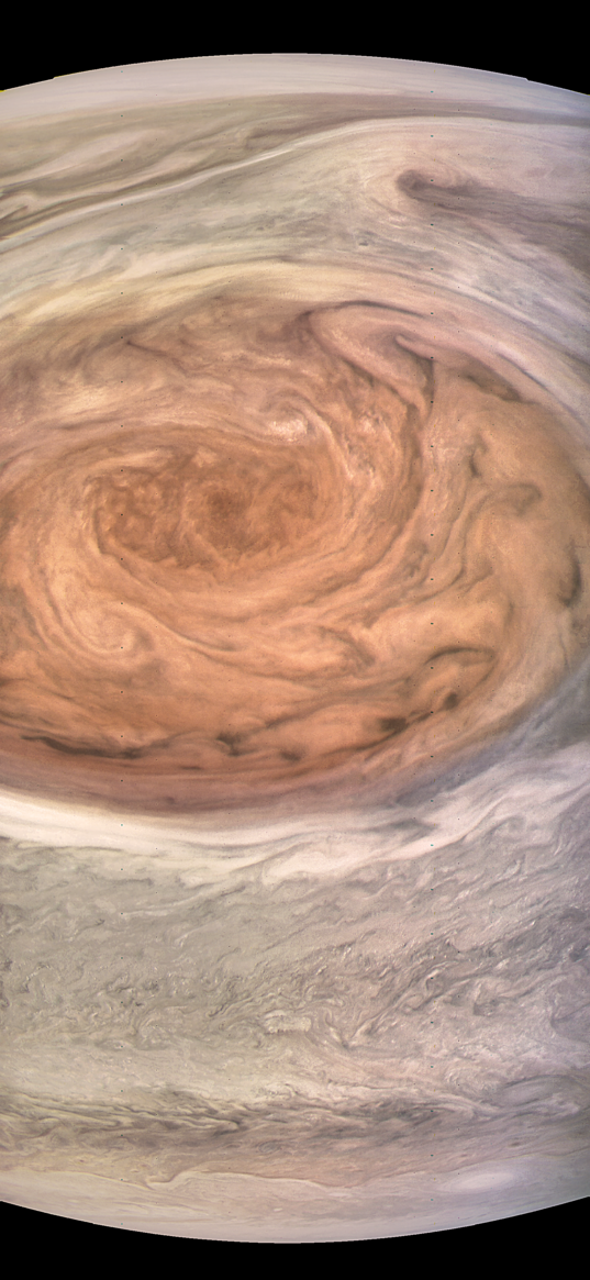 Jupiter's Great Red Spot from Juno (natural color)