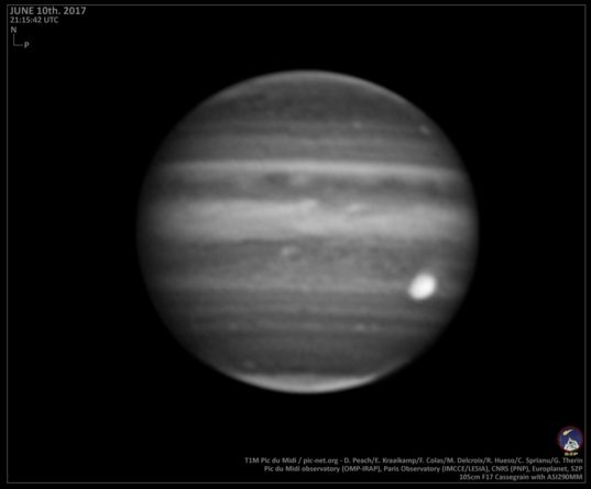 Jupiter on June 10, 2017 (methane filter)