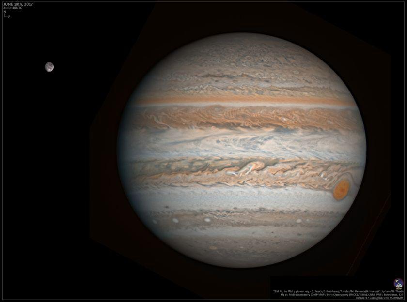 Jupiter and Ganymede on June 10, 2017