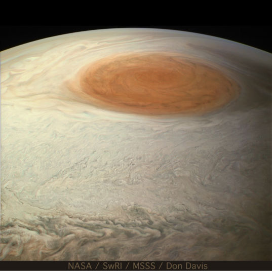 The Great Red Spot from the South