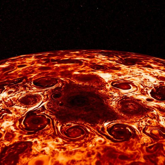 Cyclones at Jupiter's north pole