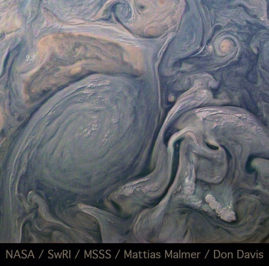 Jupiter cloud relief