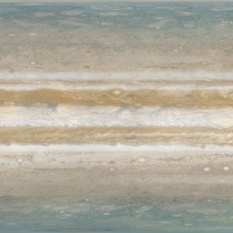 Merged Cassini and Juno global map of Jupiter