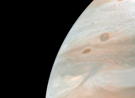 Jupiter and Amalthea from Voyager 2