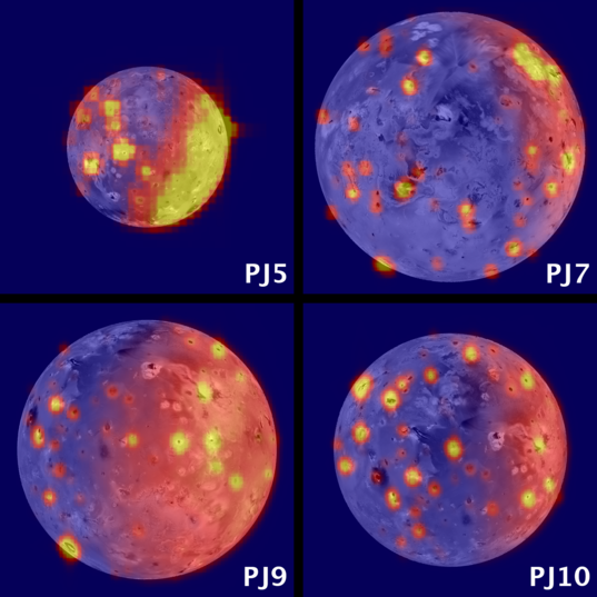 Montage of JIRAM data from different Juno perijoves