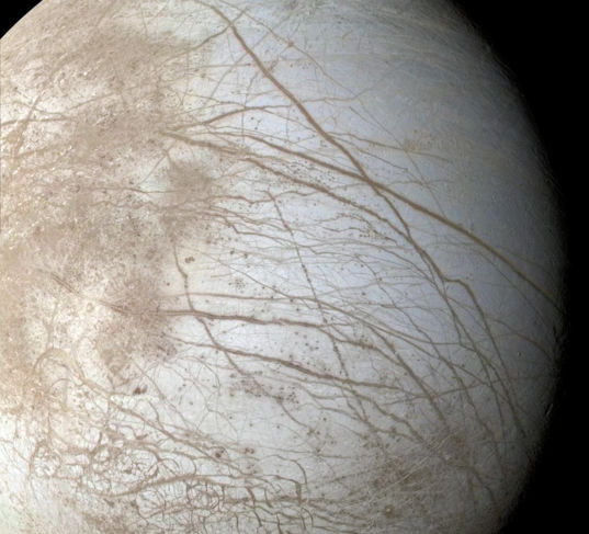 Europa from Galileo G1 orbit