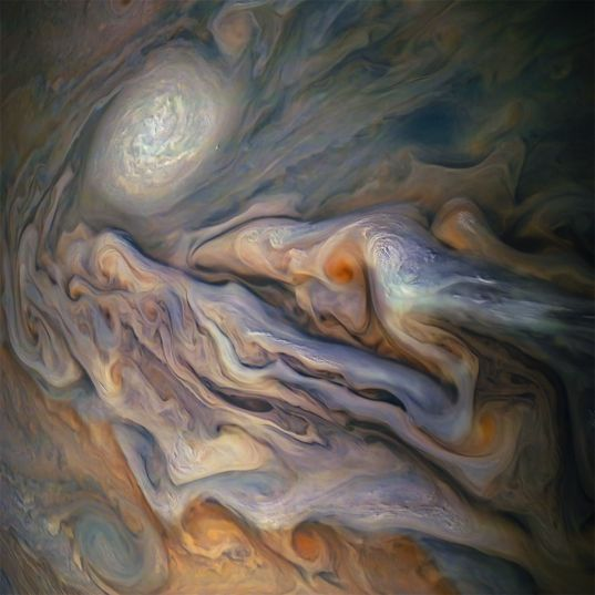 Jupiter cloud relief from Juno, 29 October 2018
