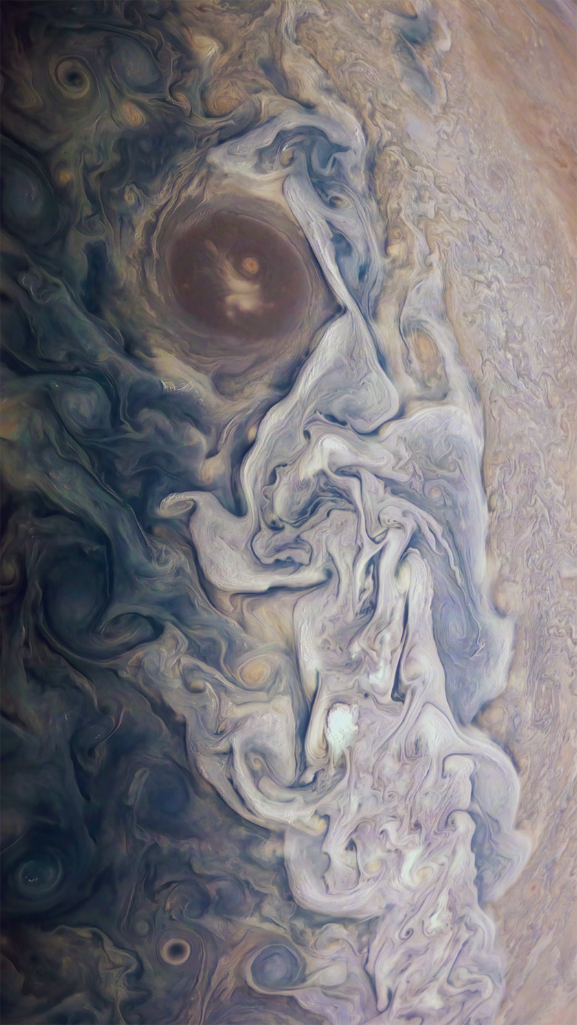 Jupiter's swirling clouds