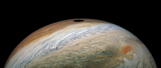Io's shadow on Jupiter during perijove 22