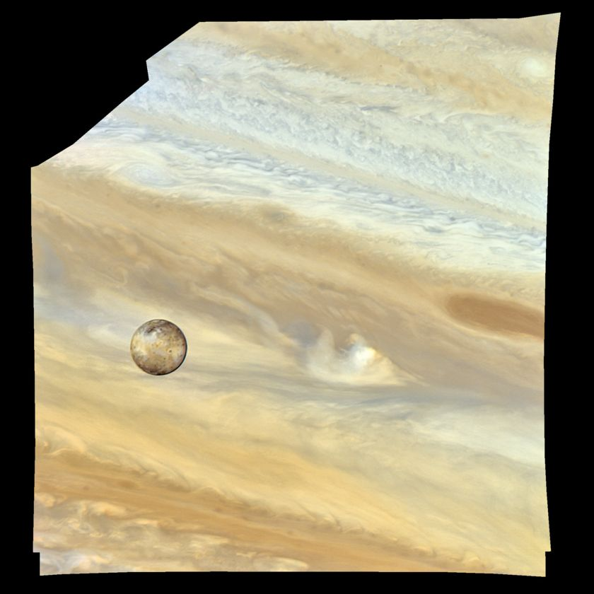 Io transiting Jupiter's equatorial zone