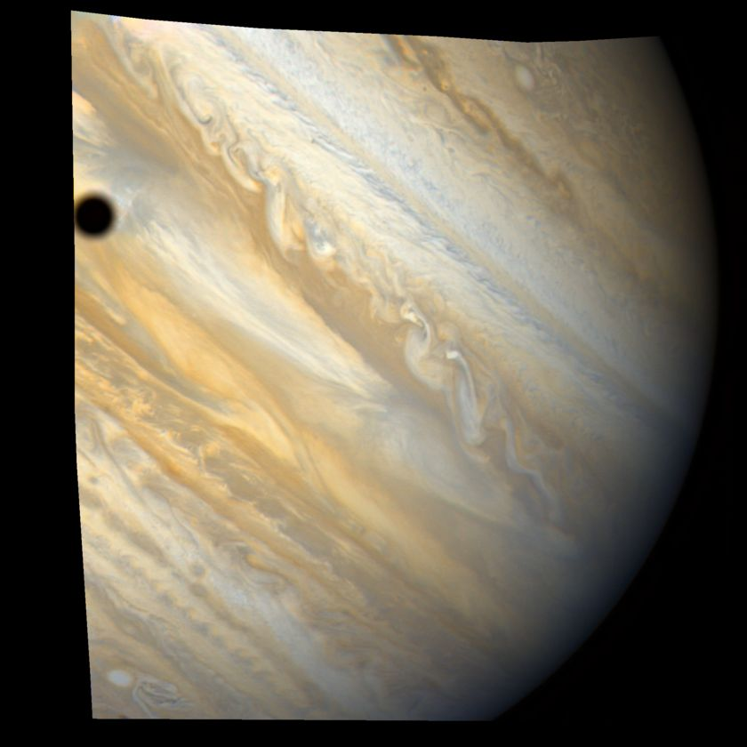 Ganymede's shadow