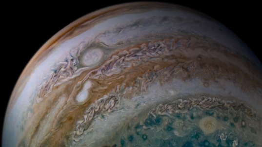 Jupiter Storms Merging