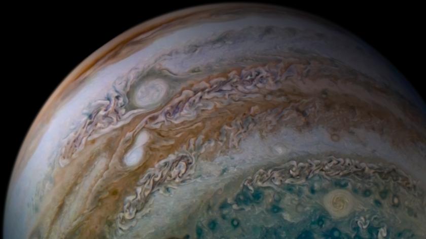Jupiter Storms Merging