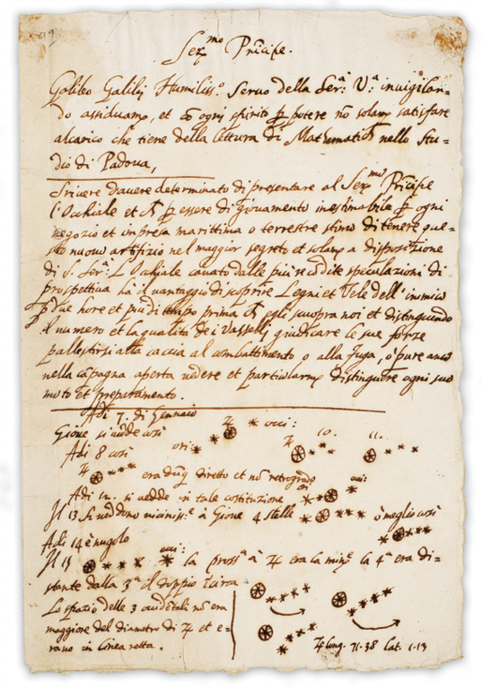 Galileo notes on Jupiter's moons