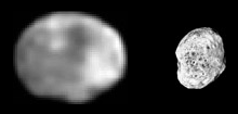 Vesta and Hyperion compared