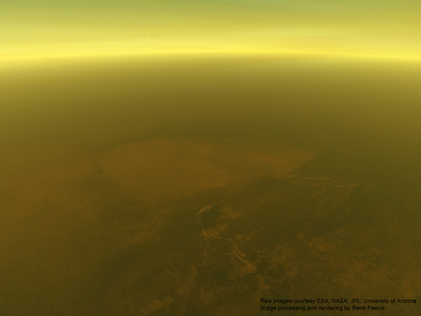 70 kilometers above the surface of Titan