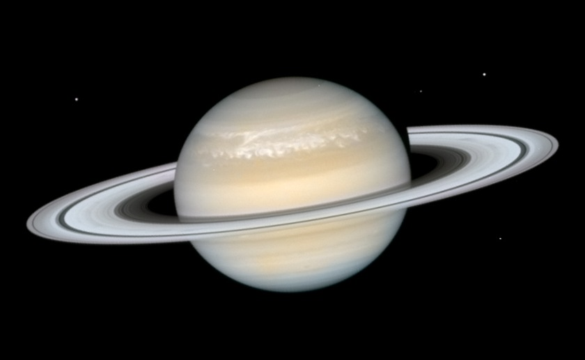 Saturn's storm from Hubble, 12 March 2011