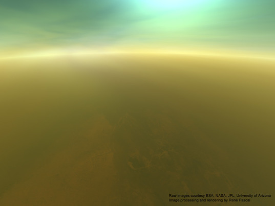 90 kilometers above the surface of Titan