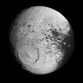 Iapetus' trailing hemisphere