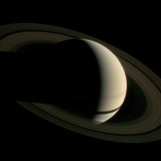 Voyager 1's departure shot of Saturn