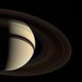 Voyager 2's departure shot of Saturn