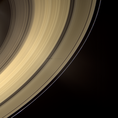 Saturn's rings in color