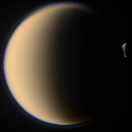 Titan hides Rhea