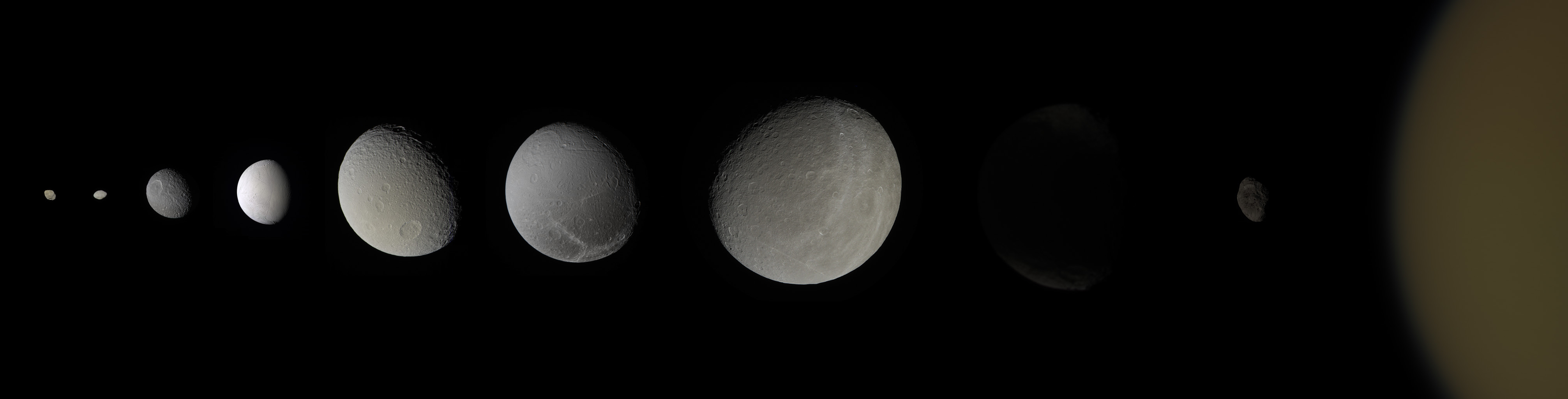The colors of Saturn's moons | The Planetary Society