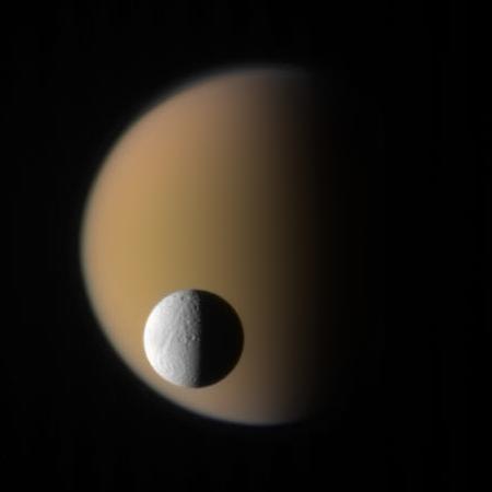 Tethys and Titan