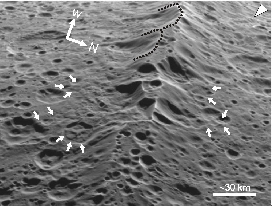 Landslide modification of Iapetus' ridge