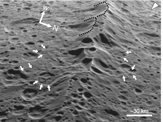 Landslide modification of Iapetus' ridge