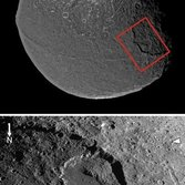 Landslide in Iapetus' Malun crater