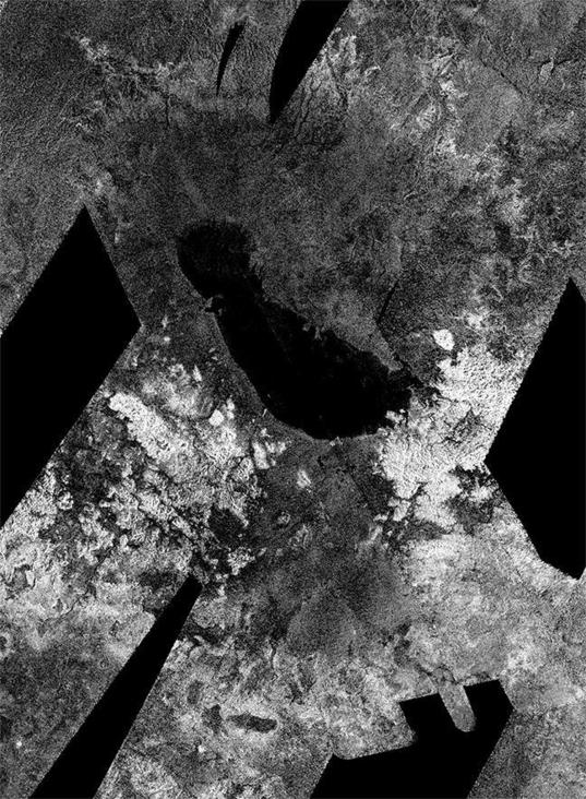 Ontario Lacus, Titan, from Cassini RADAR