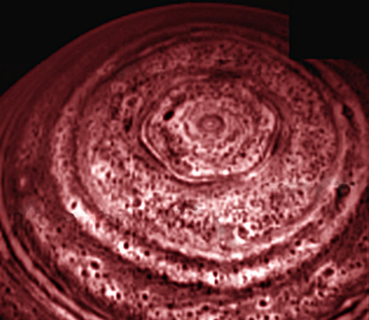 Saturn's north polar hexagon from Cassini VIMS