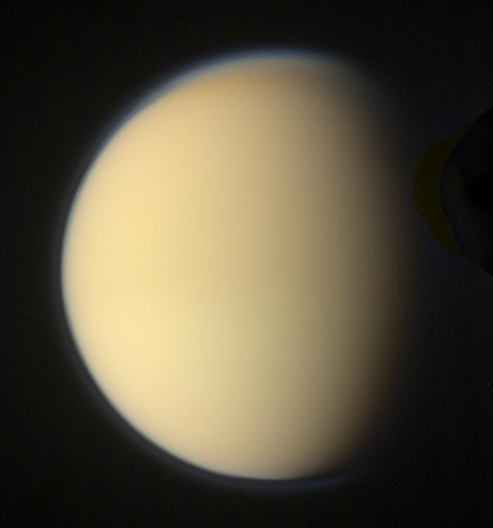 Global color view of Titan (10 April 2010)